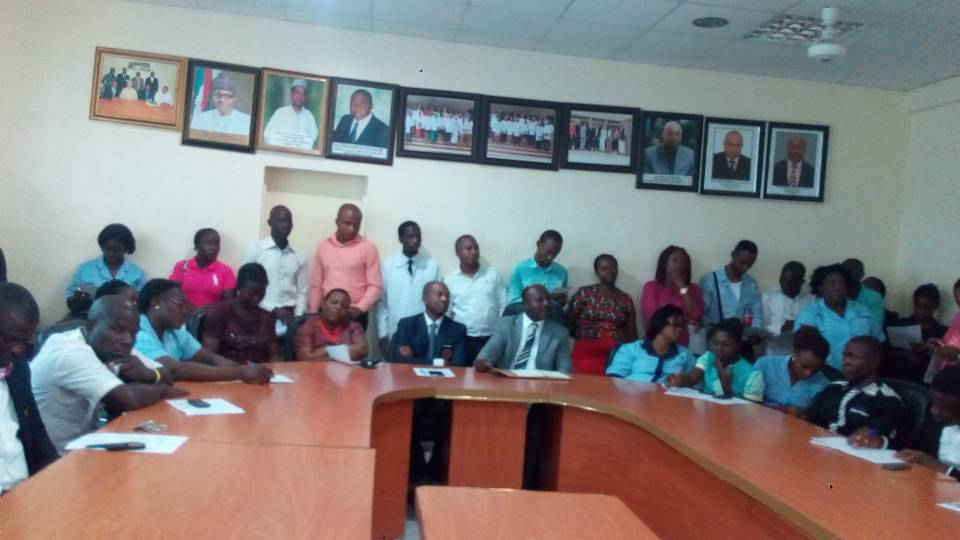 Staff of Garki General Hospital Abuja, during a CME on the global threat of Antimicrobial Resistance